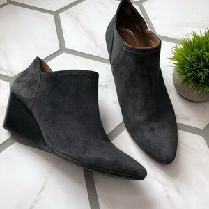 Eric Michael gray leather bootie
